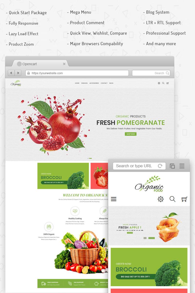 """Organic - Responsive"" 响应式OpenCart模板 #71188"