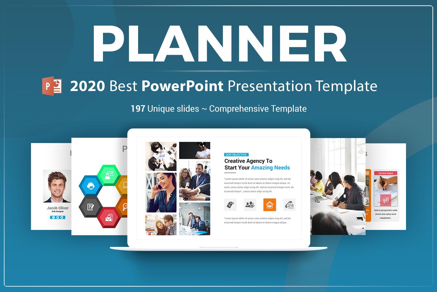 """""""Planner Presentation"""" modèle PowerPoint Premium #71144"""