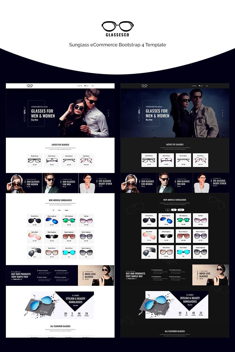 "Plantilla Web ""Glassesco - Glasses eCommerce Bootstrap4"" #71147 - captura de pantalla"