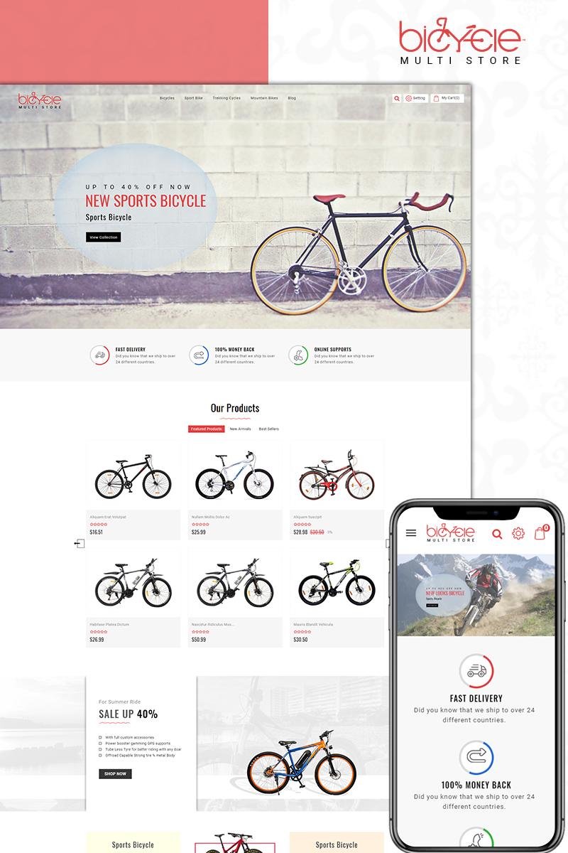 "PrestaShop Theme namens ""Bicycle MultiStore"" #71191"