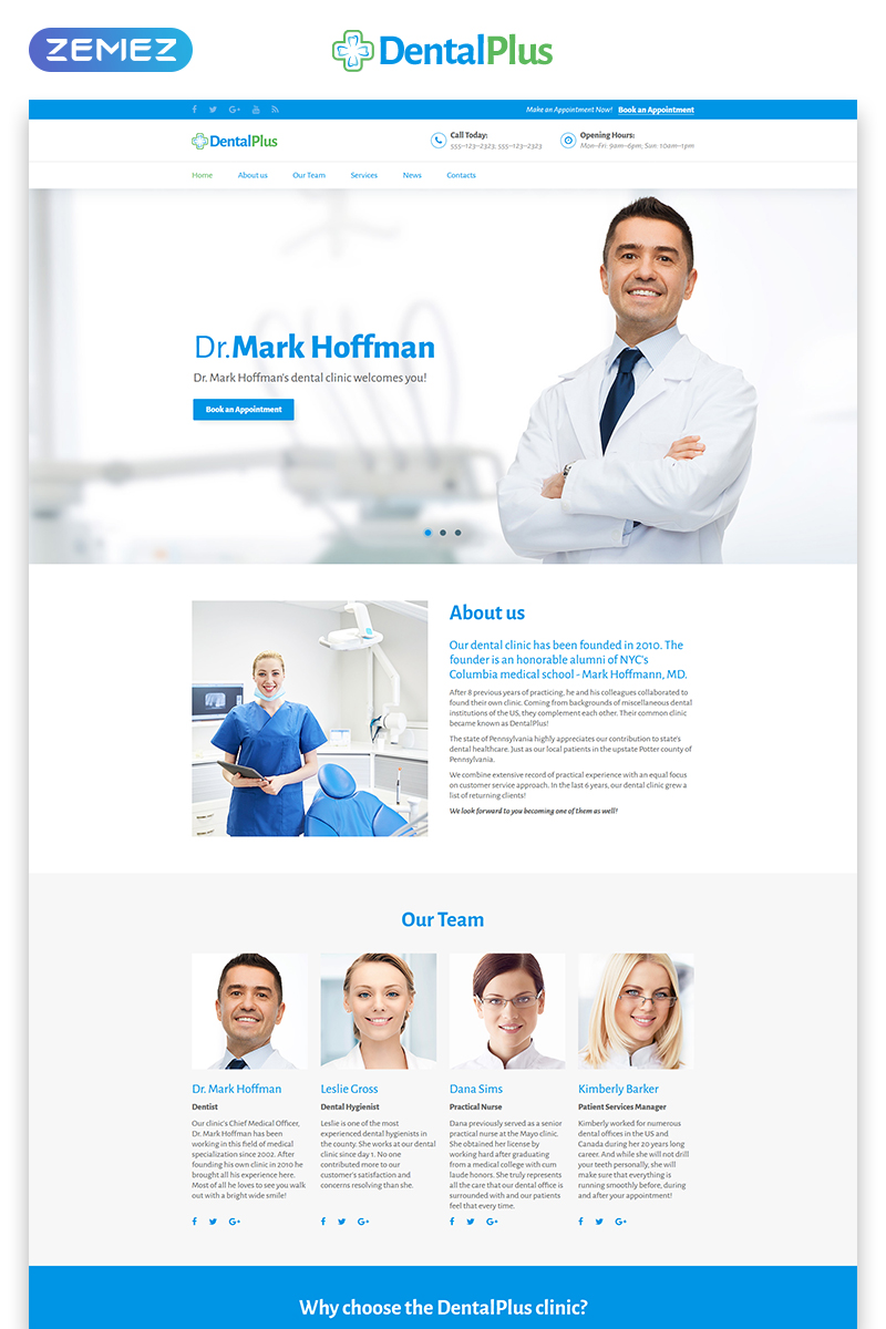 Responsivt DentaPlus - Accurate Dental Clinic HTML Landing Page-mall #71181