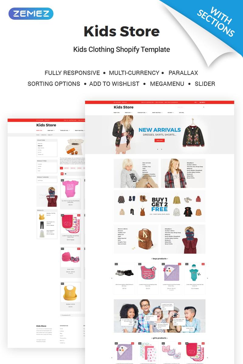 Responsywny szablon Shopify Kids Clothing Store #71168