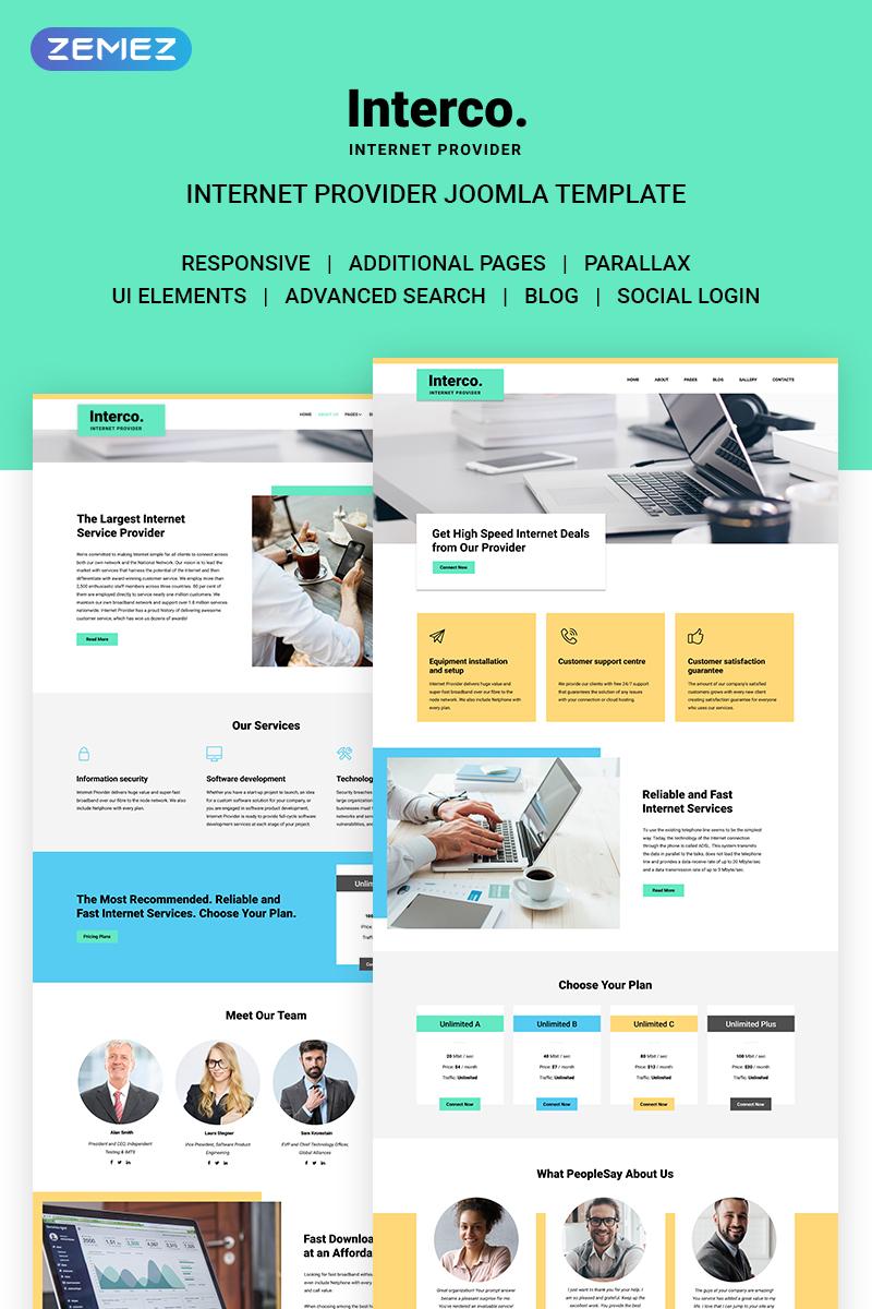 Reszponzív Interco Internet - Provider Joomla sablon 71167