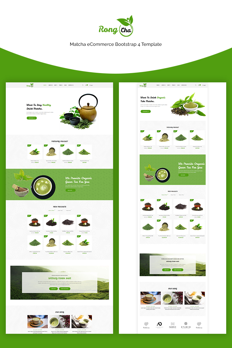 Rongcha - Matcha Bootstrap4 Template Web №71141 - captura de tela