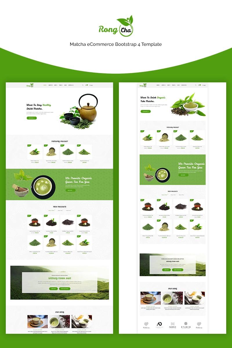 Rongcha - Matcha Bootstrap4 Website Template - screenshot