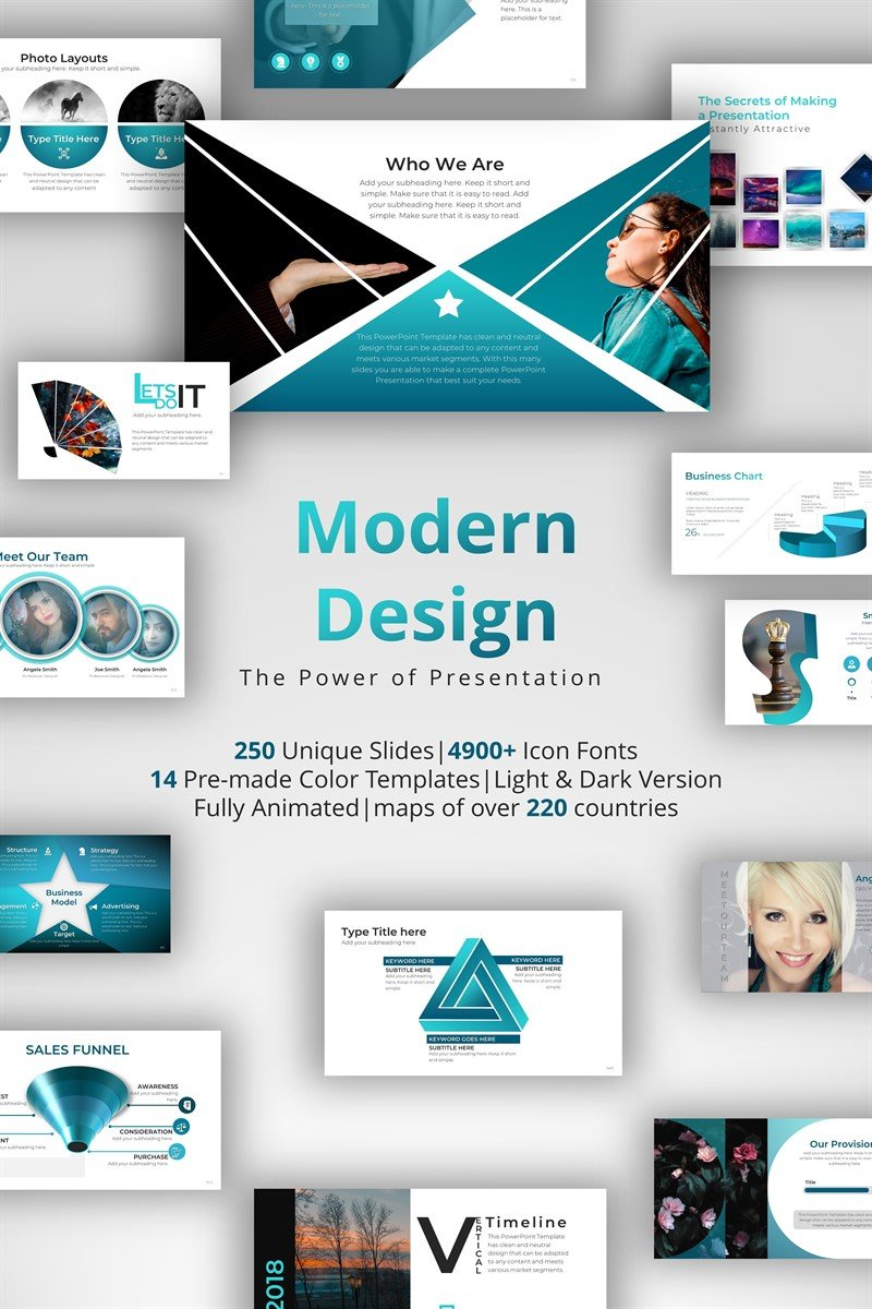 "Tema PowerPoint Responsive #71145 ""Modern Design"" - screenshot"