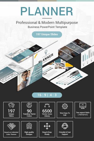 Template di PowerPoint per la presentazione del pianificatore #71144
