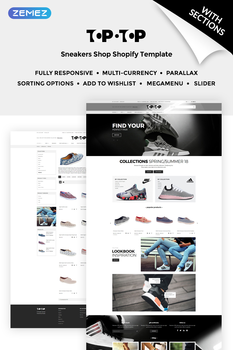 Top-Top - Gym Shoes Shopify Theme