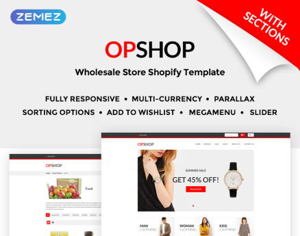 OpShop - Wholesale Store Shopify Theme