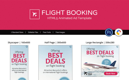 Tour & Travel | Flight Booking Animated Banner