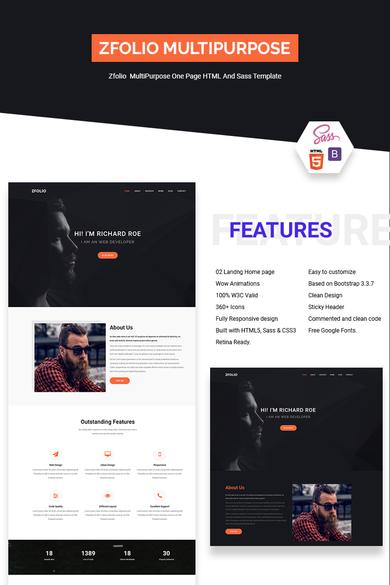 Software Landing Page Template | Website Templates