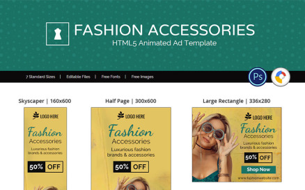 Shopping & E-commerce   Fashion Accessories Animated Banner