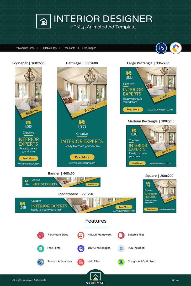 Website Template #71252 Html5 Animated Ad Custom Website Template ...