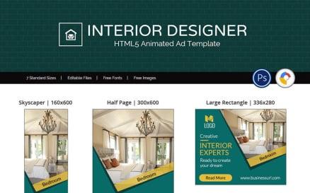 Real Estate | Interior Designer Animated Banner