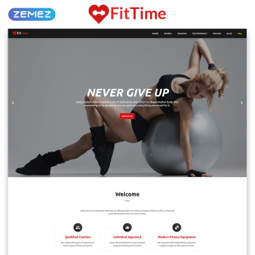 Preview image of FitTime - Fitness Studio Responsive HTML5