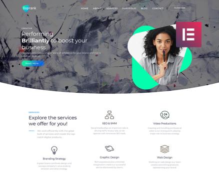 TopRank - Corporate Digital Agency WordPress Theme