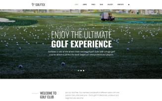 GOLFTEX - Modern Golf Club Joomla Template