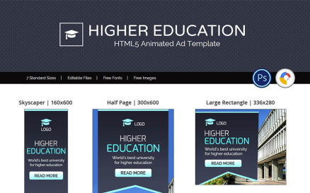 Education & Institute   Higher Education Animated Banner