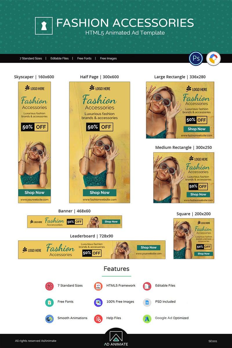 "Animated Banner ""Shopping & E-commerce | Fashion Accessories"" #71247 - captura de pantalla"
