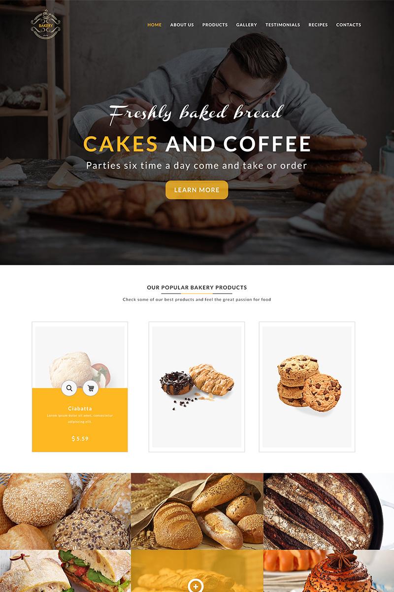 Bakery Template PSD Template