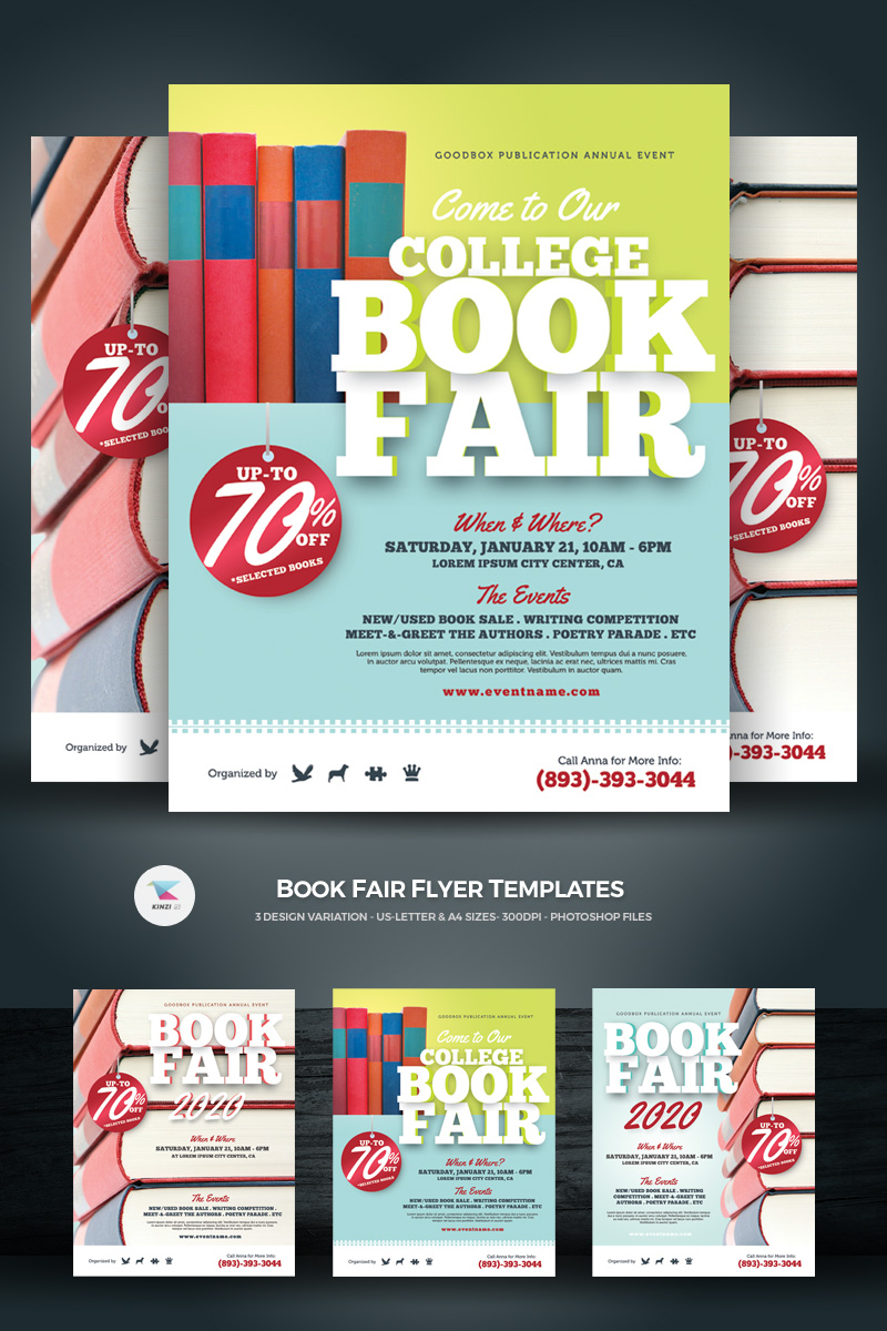 Book Fair Flyers Corporate Identity Template #71232