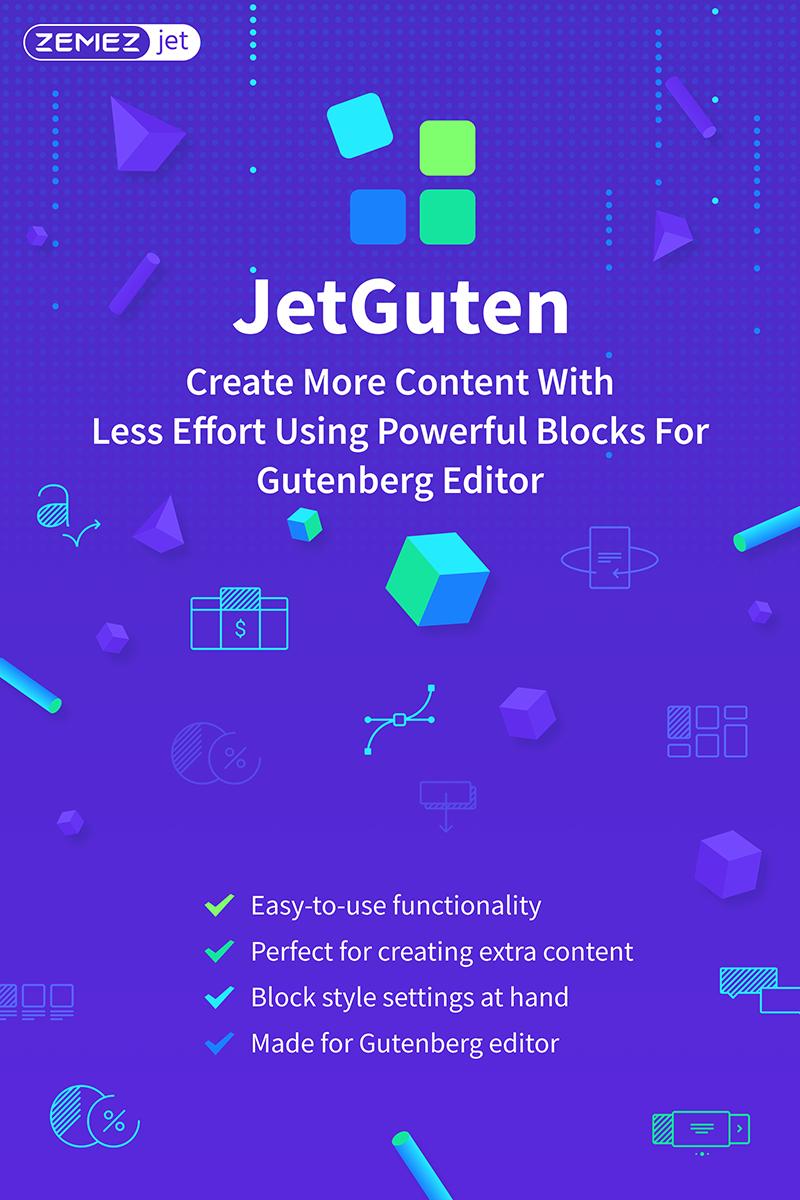 """JetGuten - Blocks Set Addon for Gutenberg Editor"" WordPress Plug-in №71254"