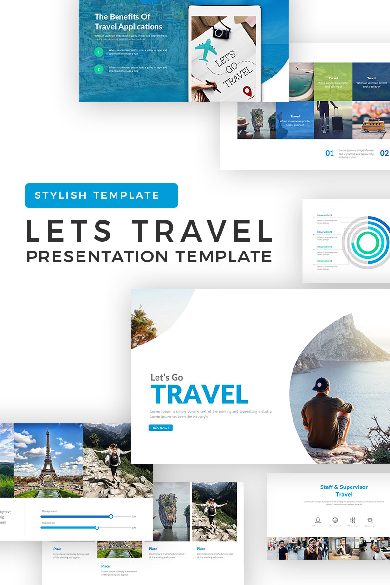Lets Travel PowerPoint Template