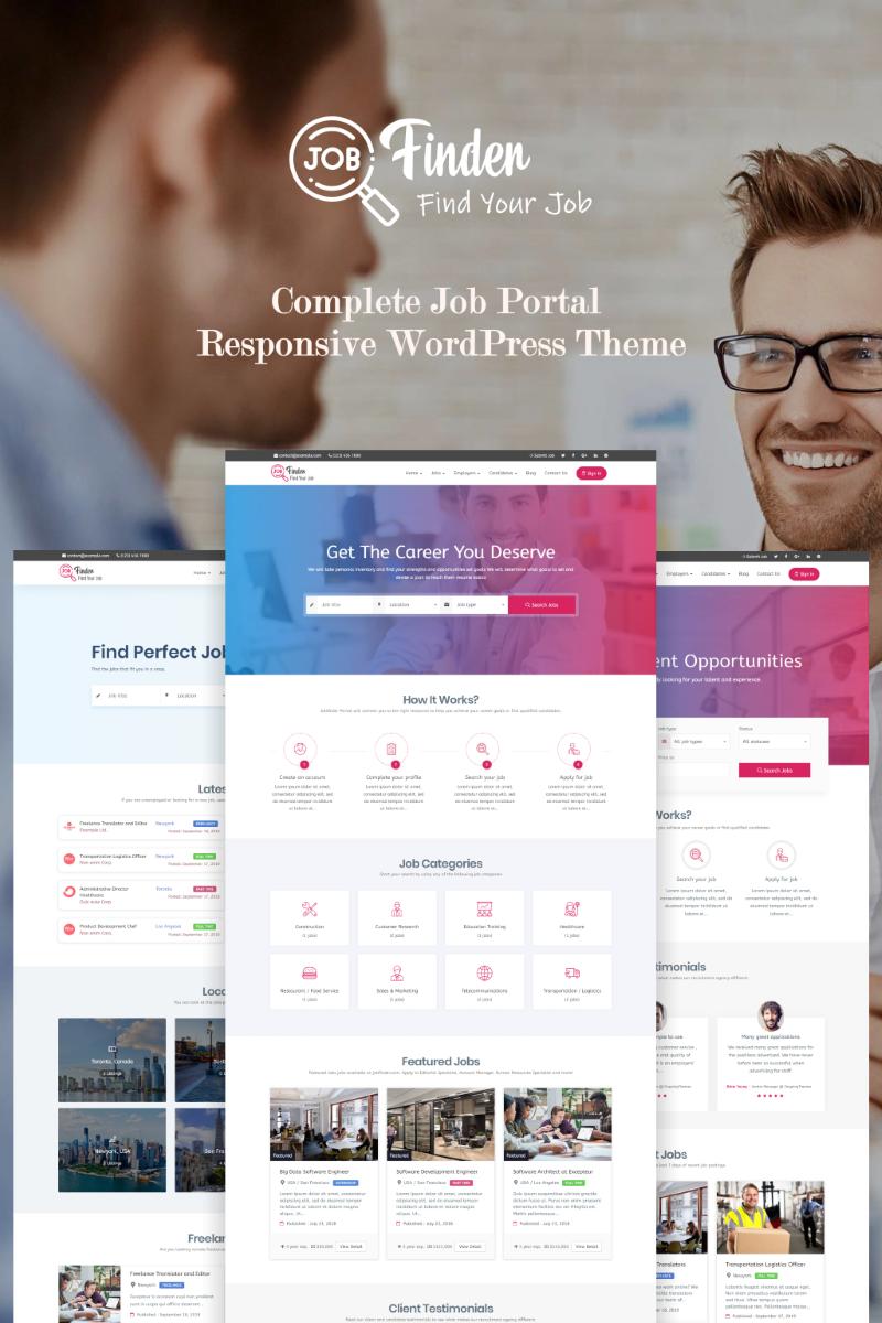 Reszponzív Jobfinder - Job Board WordPress sablon 71206