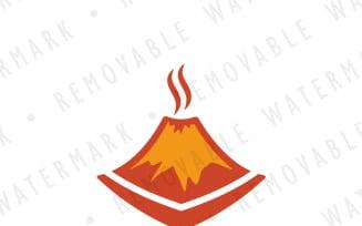 Smoldering Volcano Logo Template