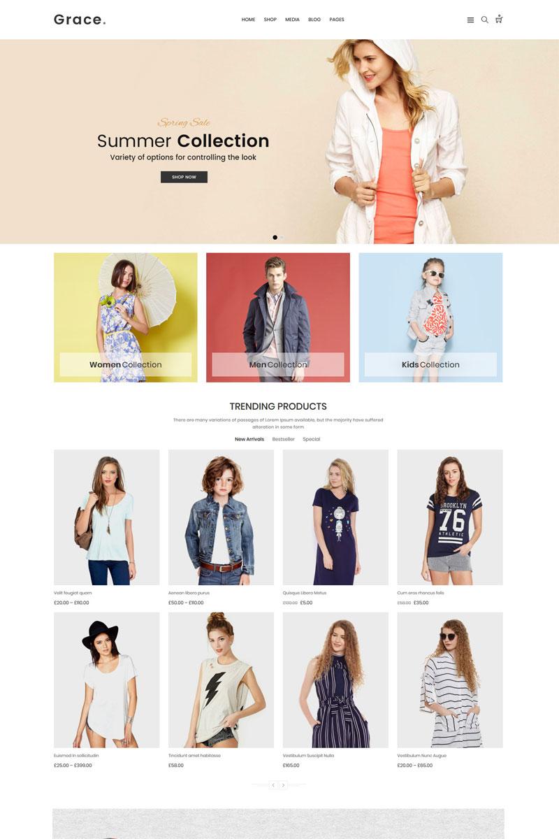 "Tema WooCommerce ""Grace - Minimal Fashion Store"" #71266"