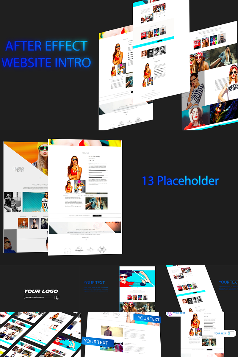 """Template After Effects Intro #71263 """"Website Intro"""""""