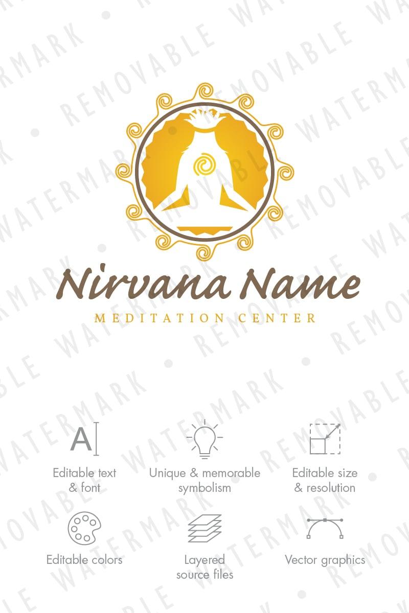 tribal meditation logo template 71237