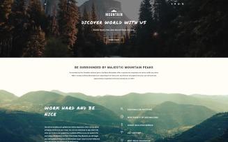 Mountain Tours Joomla Template