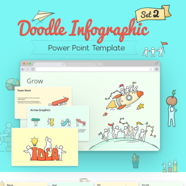 Preview image of Doodle Infographic Set