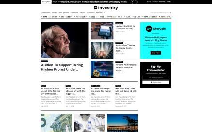 Investory - Corporate Blog Elementor WordPress Theme