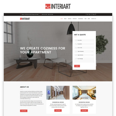 Preview image of Interiart - Interior Design HTML