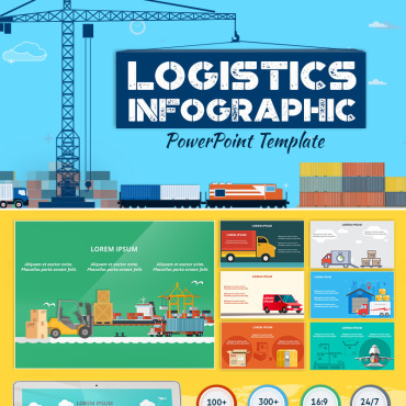Preview image of Logistics Infographic Set