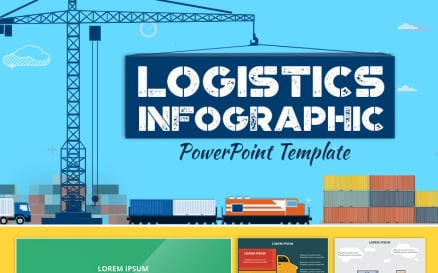 Logistics Infographic Set PowerPoint Template