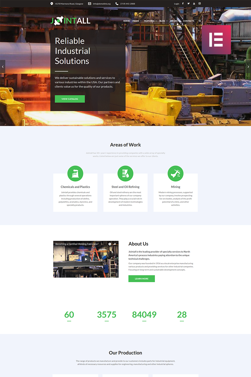 Jointall - Construction Company Elementor WordPress Theme