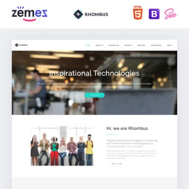 Preview image of Rhombus - Minimalistic IT Solutions Company