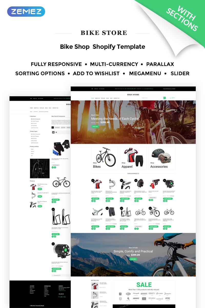 """Bike Store Responsive"" - адаптивний Shopify шаблон №71319"