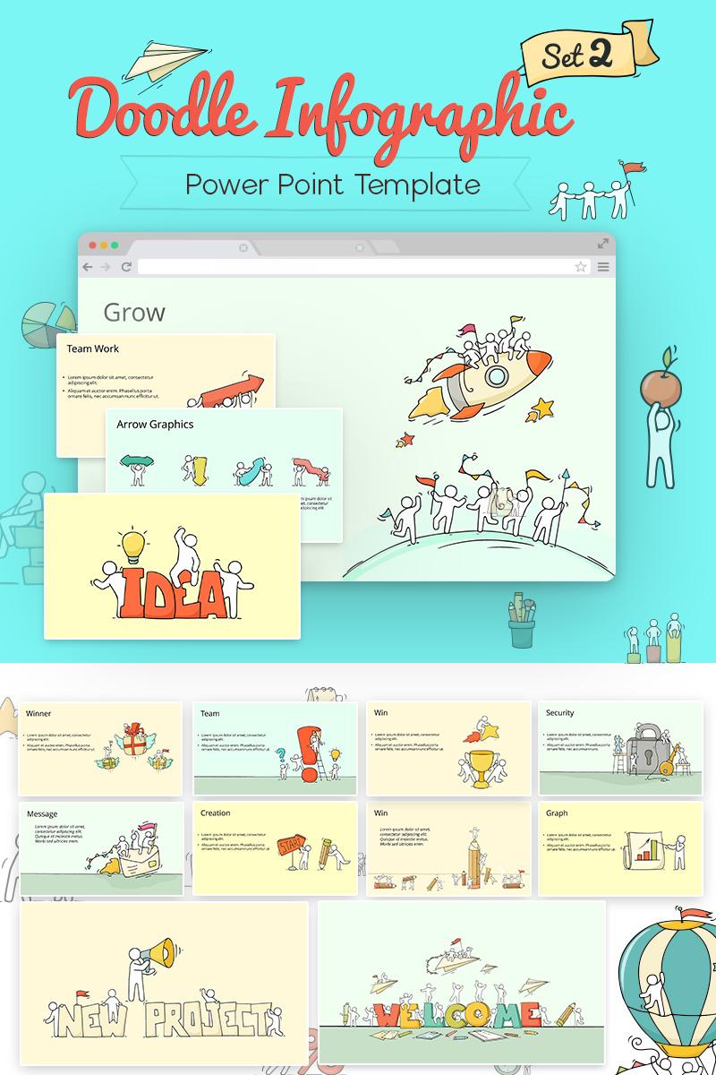 Doodle Infographic Set PowerPoint sablon 71314