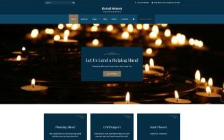 Eternal Memory - Solid Funeral Company Joomla Template