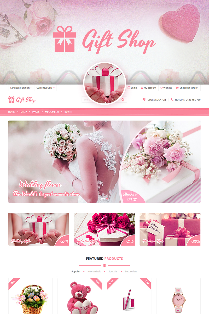 Giftshop - For Gift, Flower, Toy and Accessories stores WooCommerce Theme - screenshot