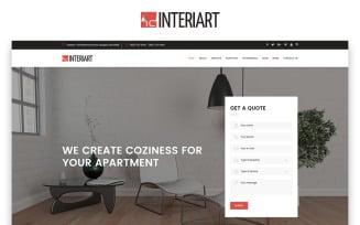 Interiart - Interior Design HTML Landing Page Template