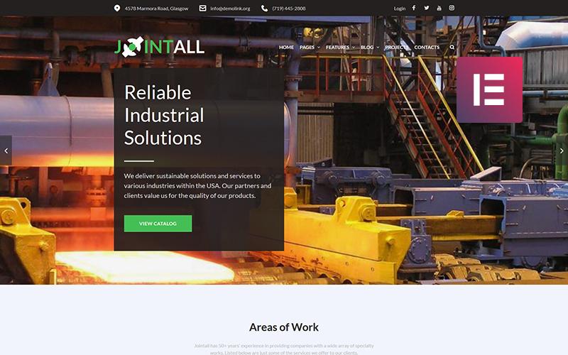 Jointall - Construction Company WordPress Elementor Theme WordPress Theme