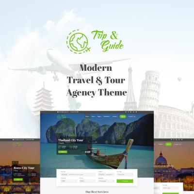 Responsive Tema De WordPress #71305 para Sitio de  para Sitio de Guías de viajes