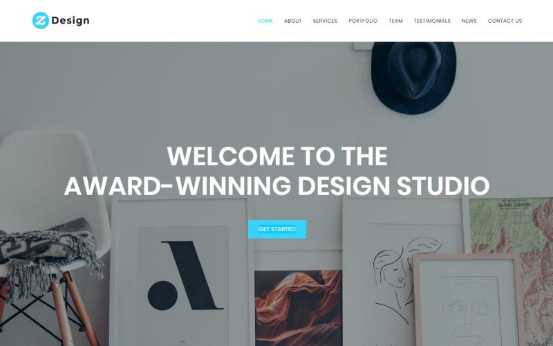 """""""Z Design - Design Studio HTML"""" - адаптивний Шаблон цільової сторінки №71322"""