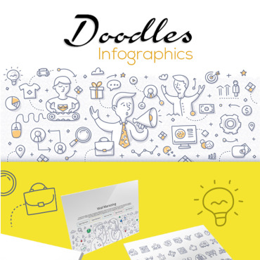 Preview image of Doodle Infographic Set 1