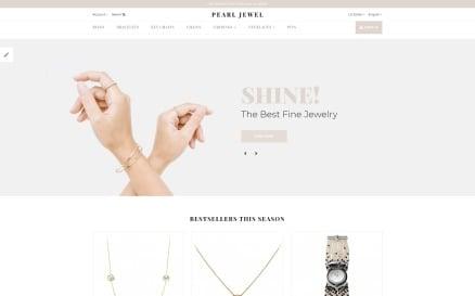 Pearl Jewel - Sophisticated Jewellery Online Shop OpenCart Template